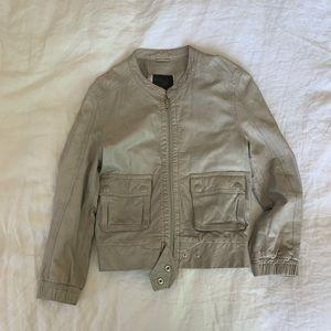 Joíe 🤍 grey leather jacket